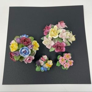 Glass decorative flowers